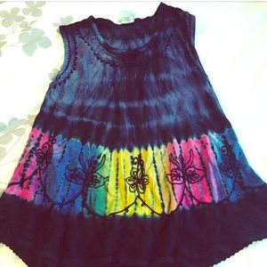 Colorful Flare Tank Top OS